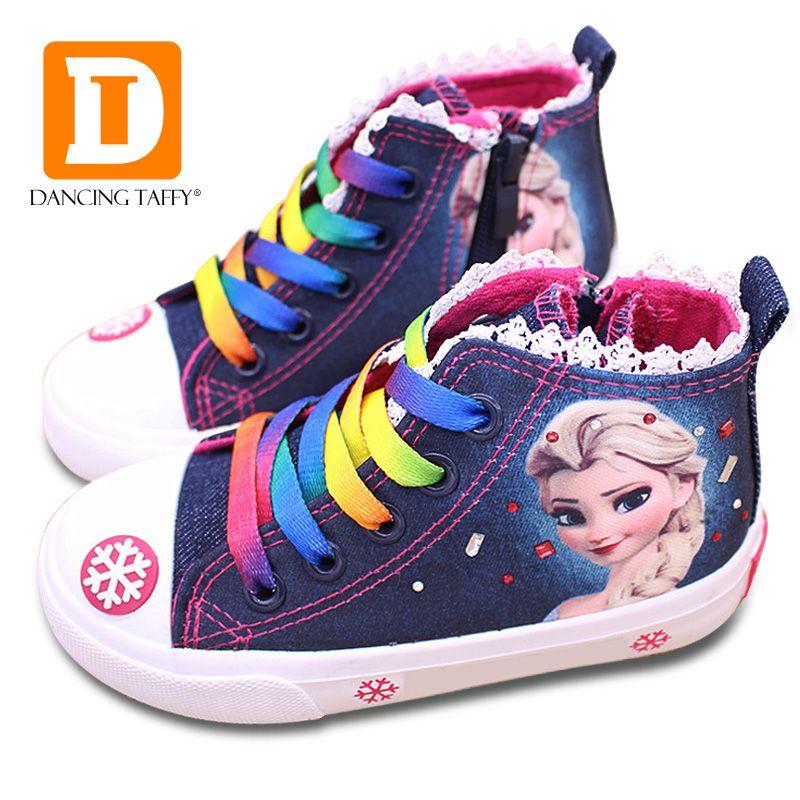 Mode Beauté Enfants de Chaussures Nouvelles Filles Chaussures 2019 Elsa Anna Princesse Cartoon Courir Plat tennis enfant Pour bottes pour fille