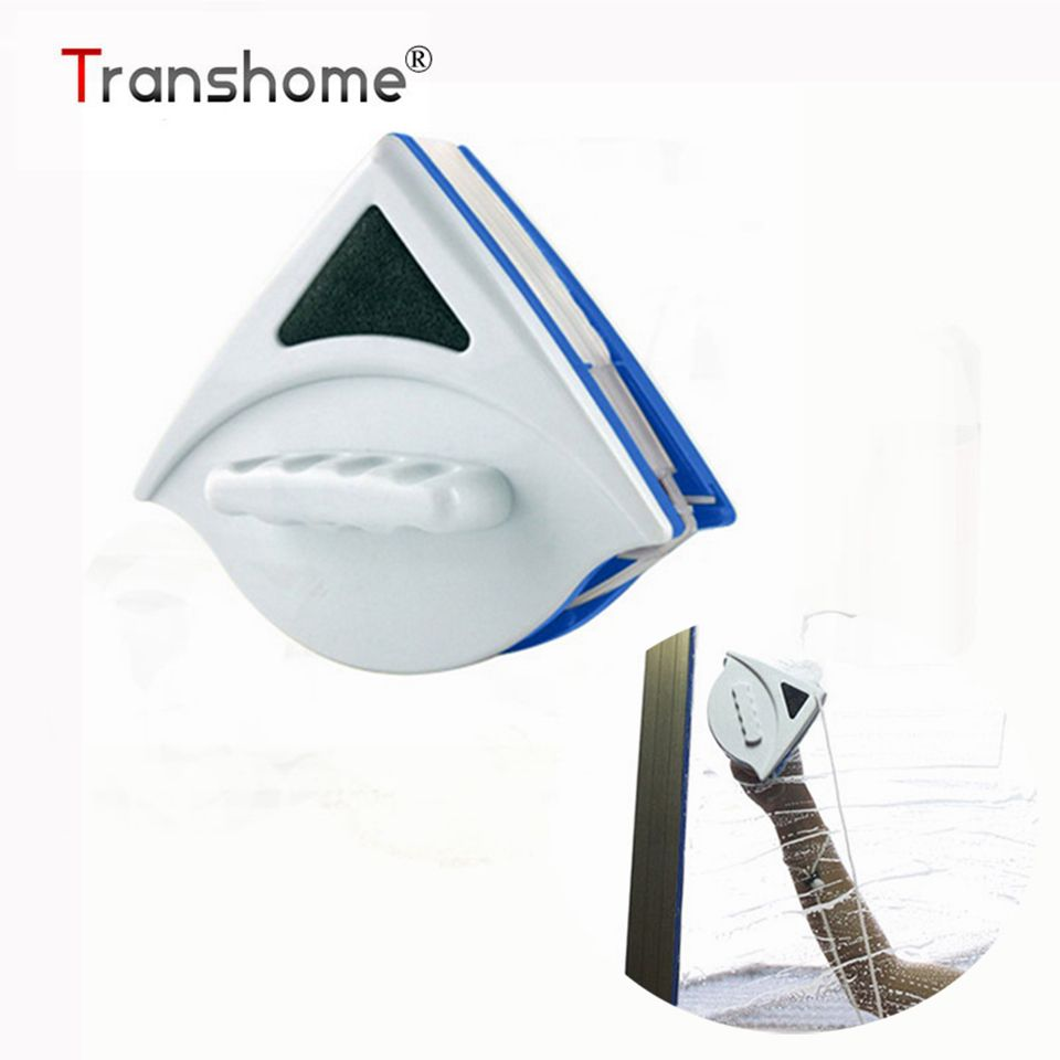Double Sided Magnetic Cleaning Window Brush Triangle magnetic Glass Cleaner brush Cleaners (5-12mm) Cleaning Tools