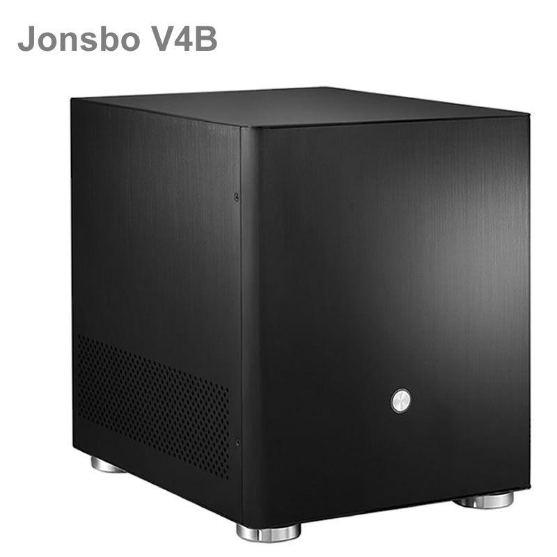 Jonsbo V4 Silber Aluminium Mini ITX MATX mini-pc-gehäuse USB3.0 spiel kleine chassis V4B Schwarz HTPC ITX unterstützung 3,5 ''HDD