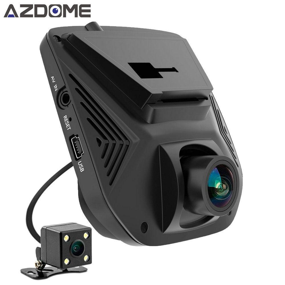 Azdome A305D Двойной объектив FHD 1080 P Видеорегистраторы для автомобилей Новатэк 96658 ЖК-дисплей Экран Sony imx323 автомобиля видео Регистраторы регистр...