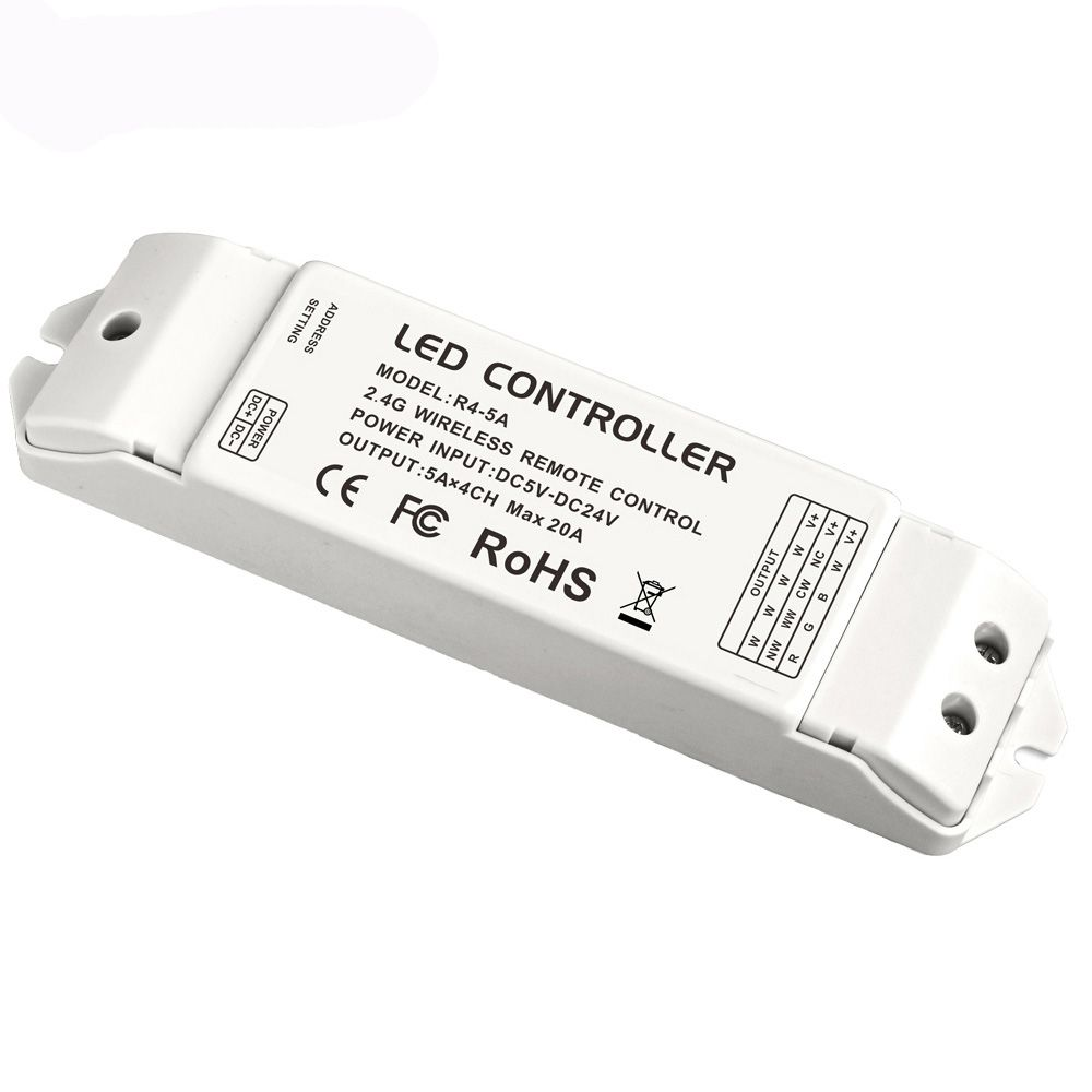 ltech R4-5A CV constant Voltage Multi Zone Receiver controller match with Wifi-104 DX series controller 2.4G DC5-24V 20A Output