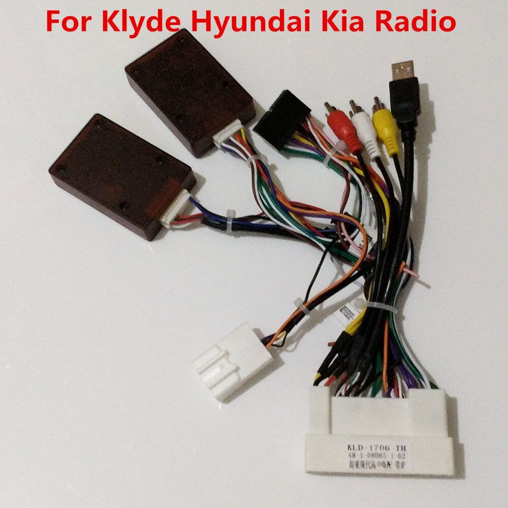 Power Cable with Canbus Decoder Box For My Store Klyde Brand KIA Hyundai Car Radio Support JBL Amplifier Steering Wheel Controls