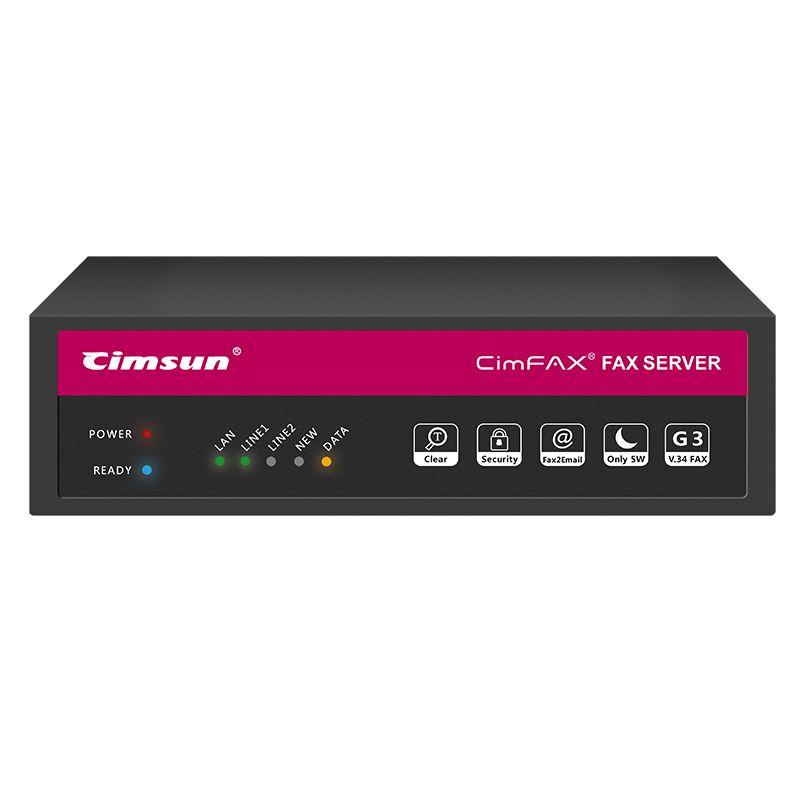 CimFAX H5 Fax Server Fax von Computer Desktop Fax von Mobile APP 100 Benutzer Hohe Geschwindigkeit Fax Modem Papierlose Über telefon Linie