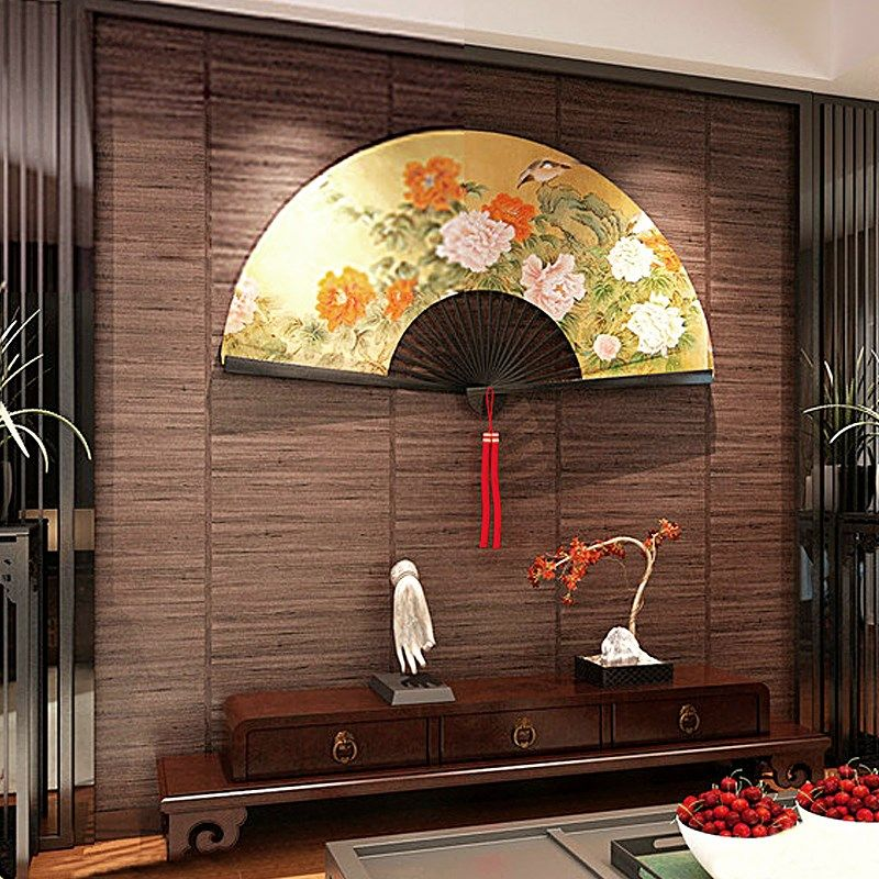 Chinese vintage imitation wood grain background wallpaper ceiling grass straw mat Japanese style living room tatami wallpaper