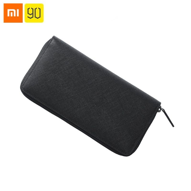 Original Xiaomi 90Fun Simple Business Leather Long Wallet Full Griand Soft Purse Bag Man Stylish Cowhide Money Cards Pocket