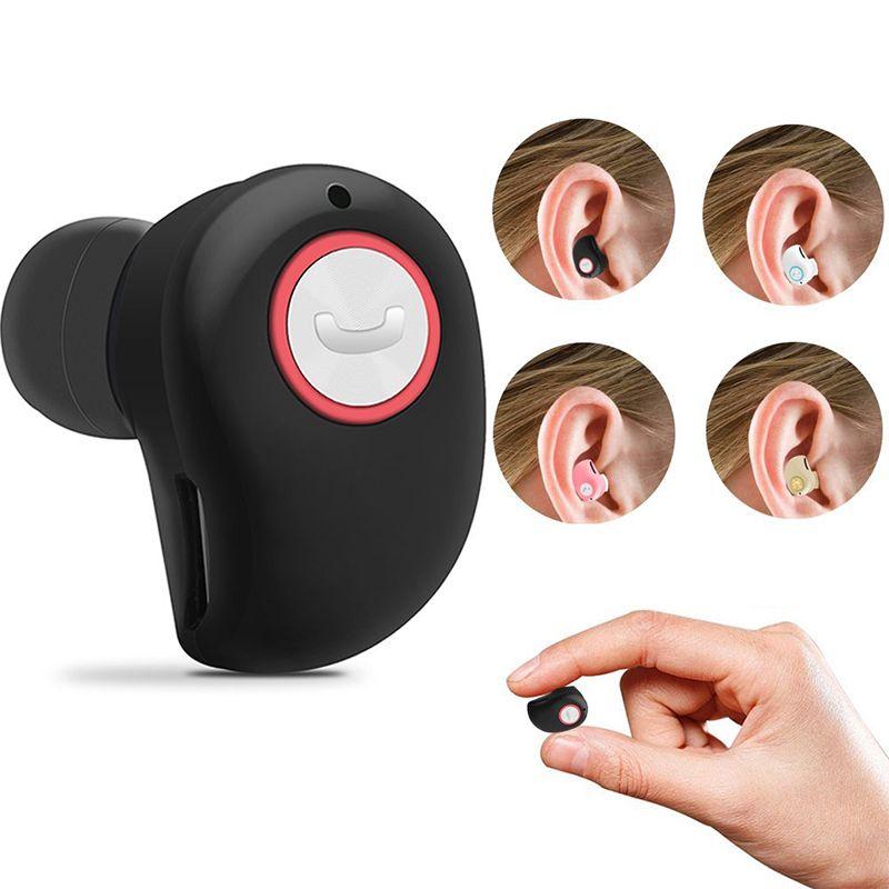 Mini bluetooth casque, mini invisible portable sans fil stéréo intra-auriculaires, sport bluetooth casque pour tous les téléphones, fone de ouvido
