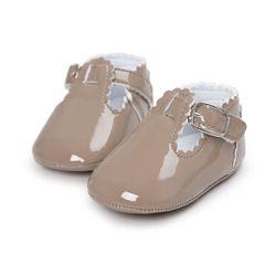 12 Color moda niñas zapatos de bebé lindo recién nacido primer caminante zapatos infantil carta princesa suave suela inferior zapatos antideslizantes