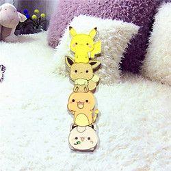 1PCS Icon Free Shipping Kawaii Pikachu Pokemon Badge Harajuku Acrylic Pin Badges Cartoon Backpack Pins Icons Costumes Badge