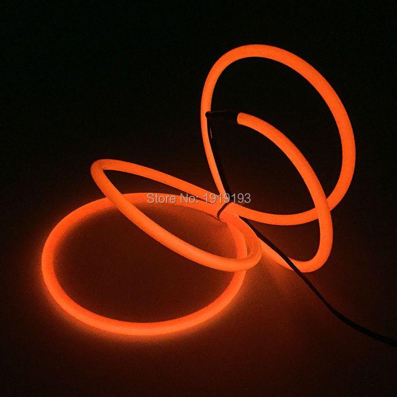 10 couleurs choix 1 M/2 M/3Me/4 M/5 M/10 M EL câble de Tube de fil 5.0mm alimenté par batterie Flexible néon LED bande fête de mariage décoration
