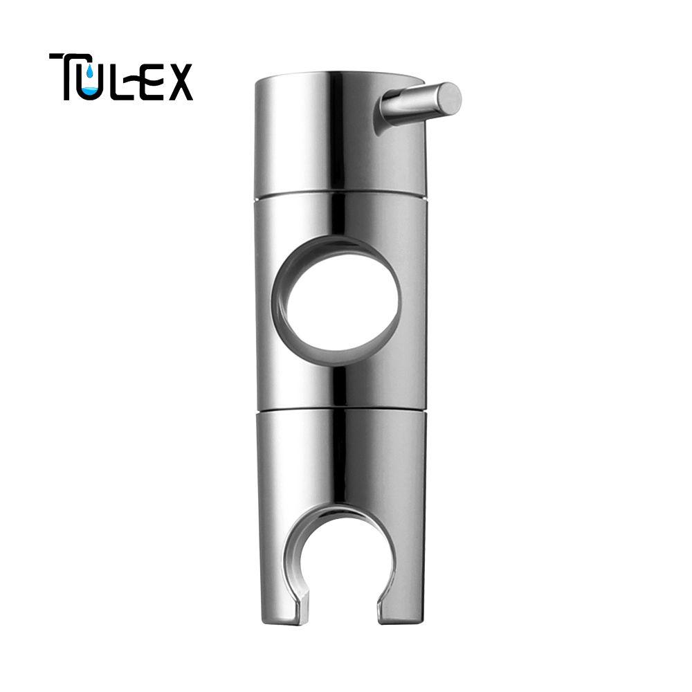 TULEX douche à main Support de Tête pour 19-25mm Curseur Bar Hauteur et Angle Réglable Pulvérisateur Titulaire tringle de douche Remplacement