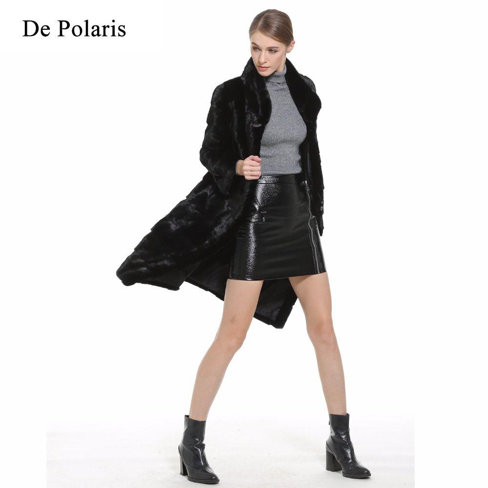 Mink Fur Coat Female Natural Fur Mink Coats Real long mink fur Genuine Real fur coats waistcoat Women Coat fast Ship by DHL