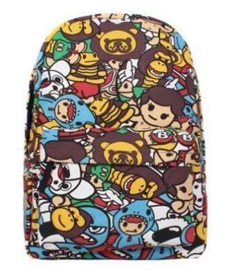 Free shipping Kxie Brandis New softback backpack fashion girl high school schoolbag schoolboy graffiti cartoon Backpack
