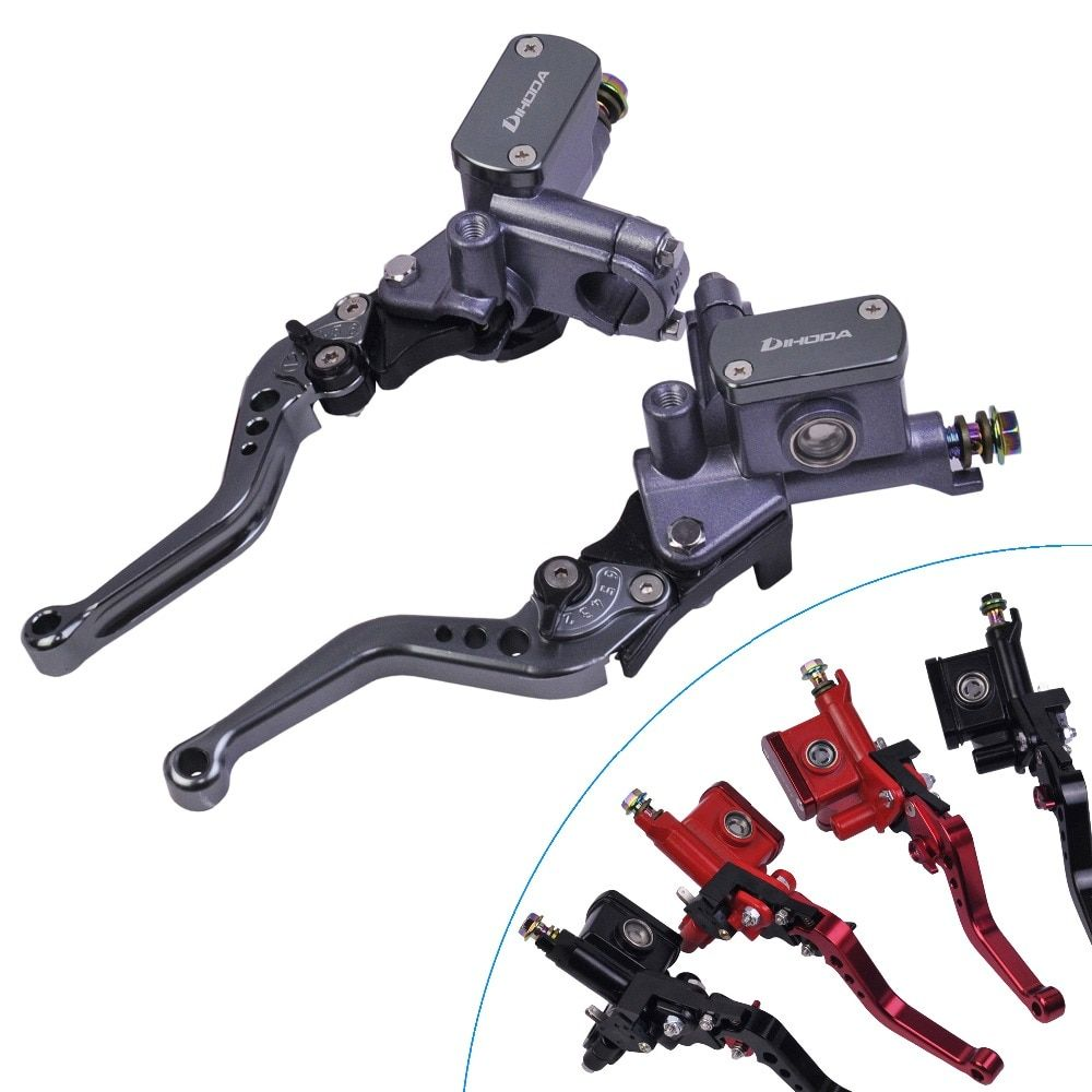 Unversal motorbike master cylinder lever brake hydraulic clutch pump front motorcycle 22mm for honda vespa yamaha mxs125 Scooter