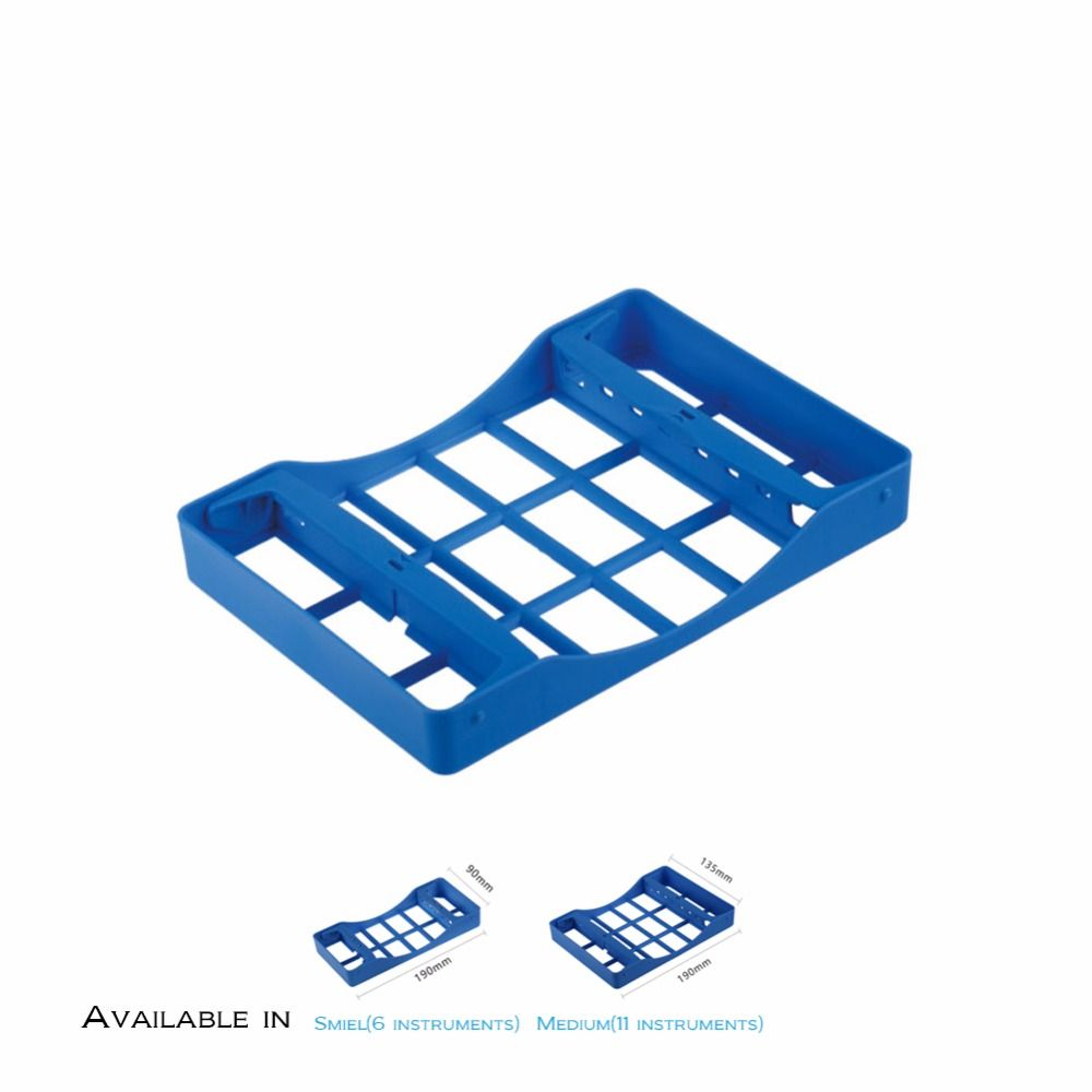 EASYINSMILE 1 STÜCK Blau Dental surgical instrument Autoklaven Kunststoff Sterilisation Kassetten Rack-fach