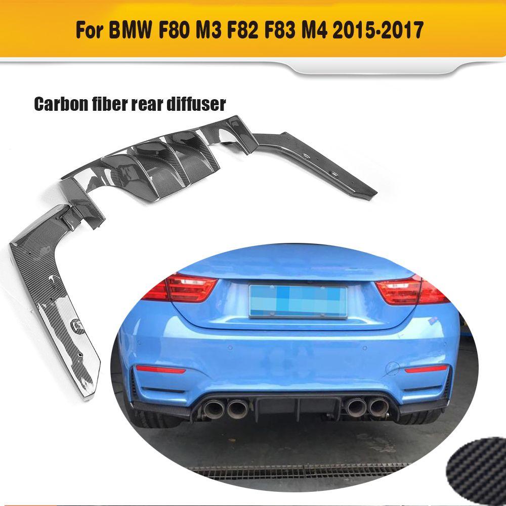 Carbon Fiber Auto Hintere Stoßstange Lip Spoiler Diffusor für BMW F80 M3 F82 F83 M4 14-17 Standard und cabrio P V Stil