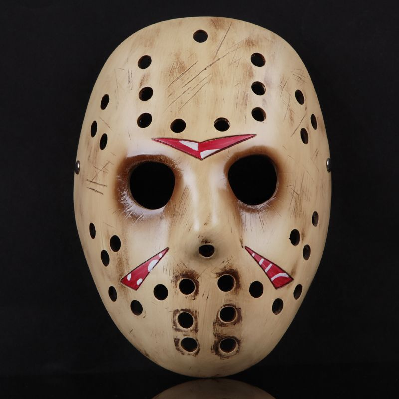 Brand Handmade Resin Scary Mask Props For Halloween Decoration Party Suppliers Horror Mask Fashion Jason Masks for Cosplay
