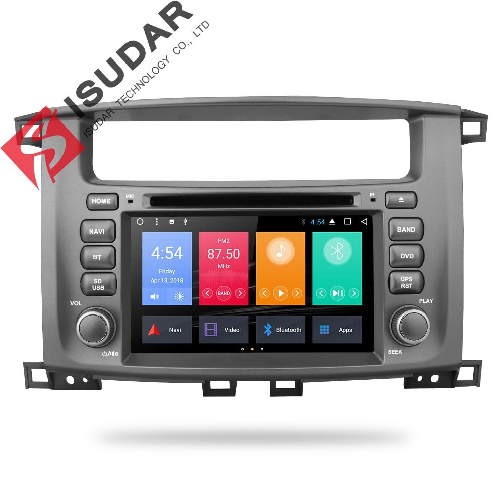 Isudar Car Multimedia player 2 din Auto Android 7.1 7 Inch For TOYOTA/LAND/CRUISER/LC100/100 1998-2007 For Lexus LX470 Radio GPS