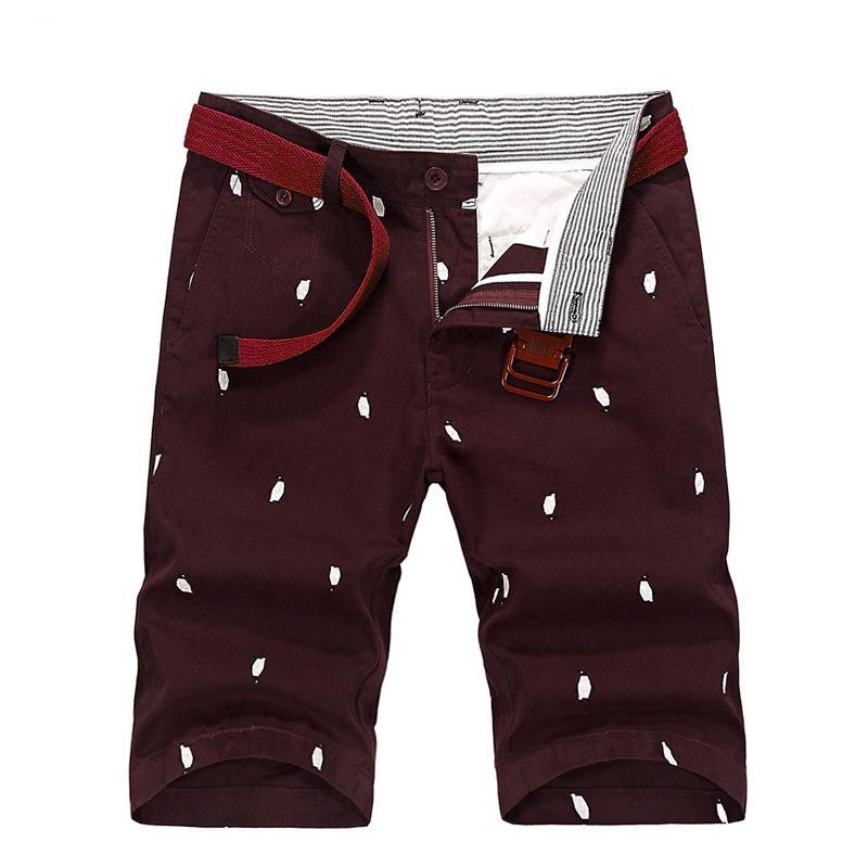 Лето 2017 г. новый модный принт Pantalones, De Los Hombres хорошее качество Четыре цвета хлопок kurz шланг человек
