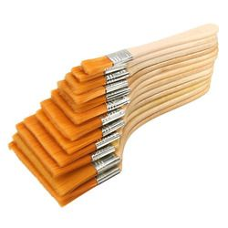 12pcs/Set High quality nylon Mao Banshua oil painting brush, BBQ brush for painting art Easy To Clean wooden cleaning brush