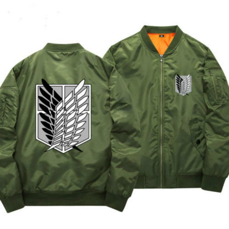 Angriff auf titan cosplay anime mantel jacke pullover baumwolle dicke hoodie reißverschluss bomberjacke
