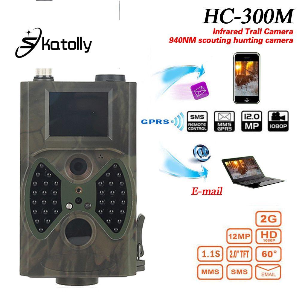 Skatolly HC300M Hunting Trail Camera HC-300M Full HD 12MP 1080P Video Night Vision MMS GPRS Scouting Infrared Game Hunter light