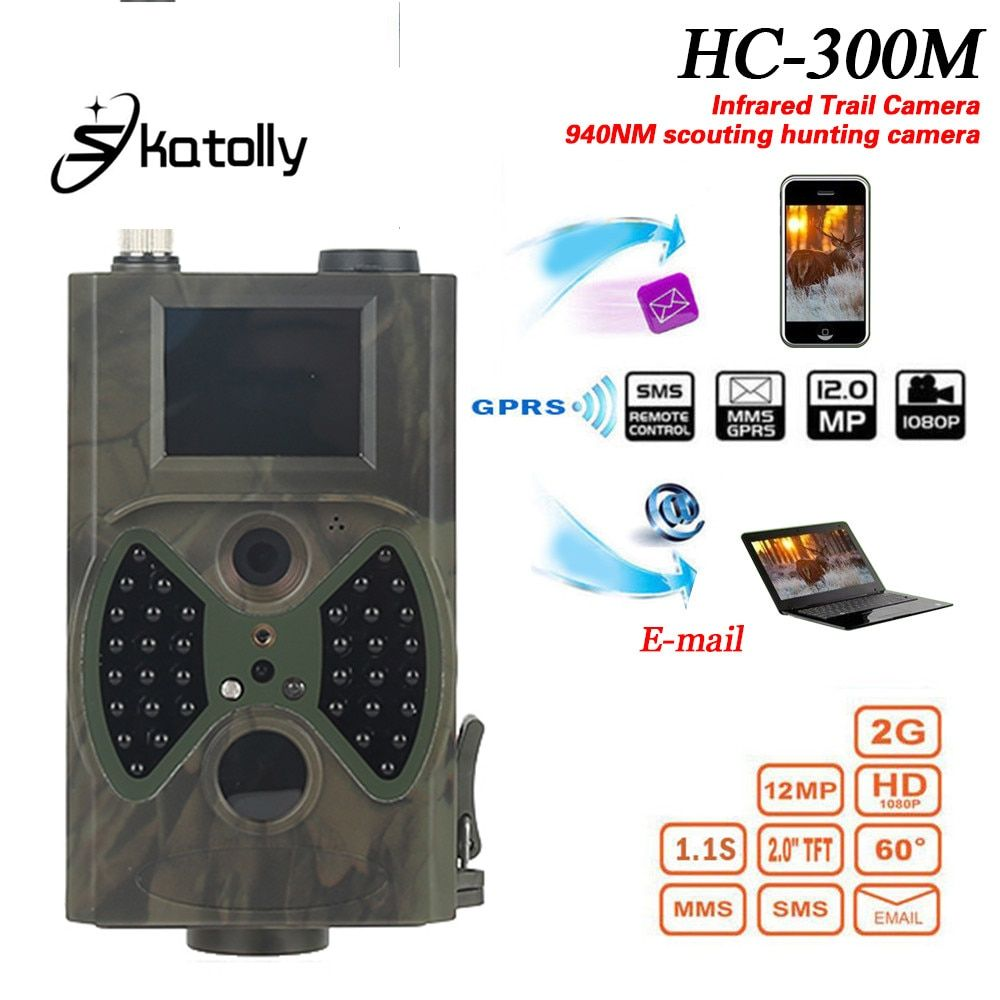 Skatolly HC300M Hunting Trail Camera HC-300M Full HD <font><b>12MP</b></font> 1080P Video Night Vision MMS GPRS Scouting Infrared Game Hunter light