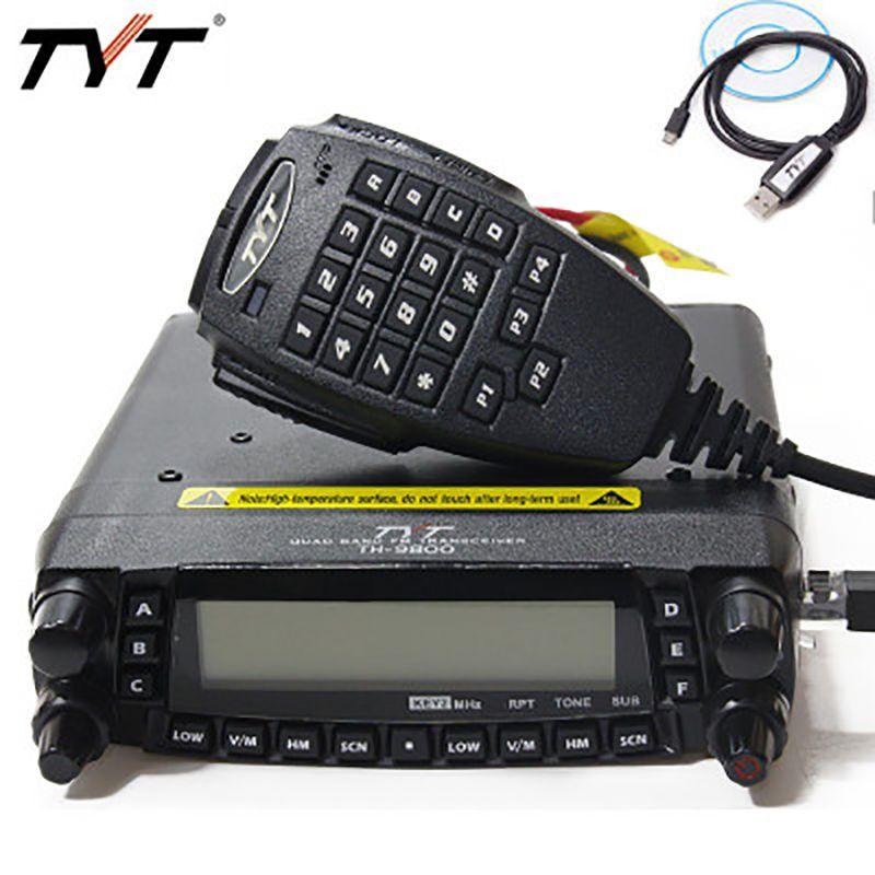 TYT TH-9800 Plus (Aktualisiert) quad-Band Fahrzeug Montieren Auto Mobile Radio 50 watt TH 9800 Auto Mobile Transceiver TH9800 Walkie Talkie Radio