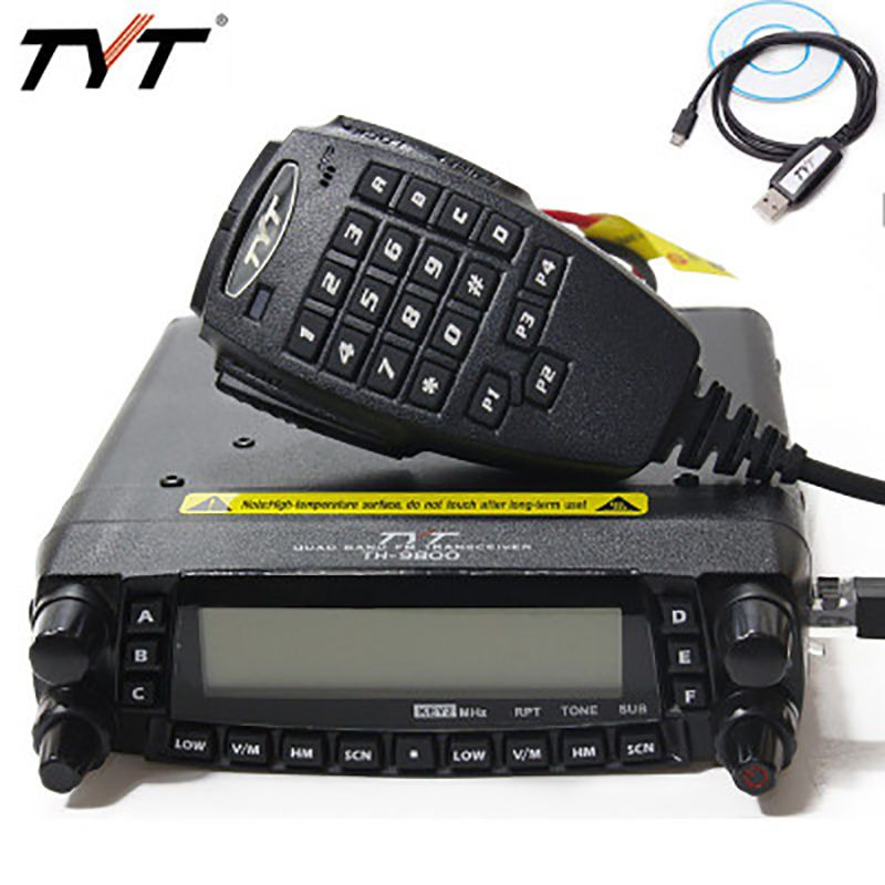 TYT TH-9800 Plus(Updated) Quad Band Vehicle Mount Car Mobile Radio 50W TH 9800 Car Mobile Transceiver TH9800 Walkie Talkie Radio