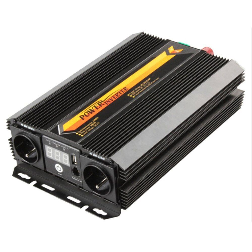 T8102 1500W/3000W Unique Design Power Inverter Charger Converter LCD Display Car Home Use Power Supply Inverter