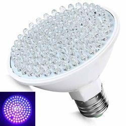 Hot Jual Ultra Terang E27 100LED 220 V UV Ultraviolet Ungu Cahaya Lampu Bola Plastik