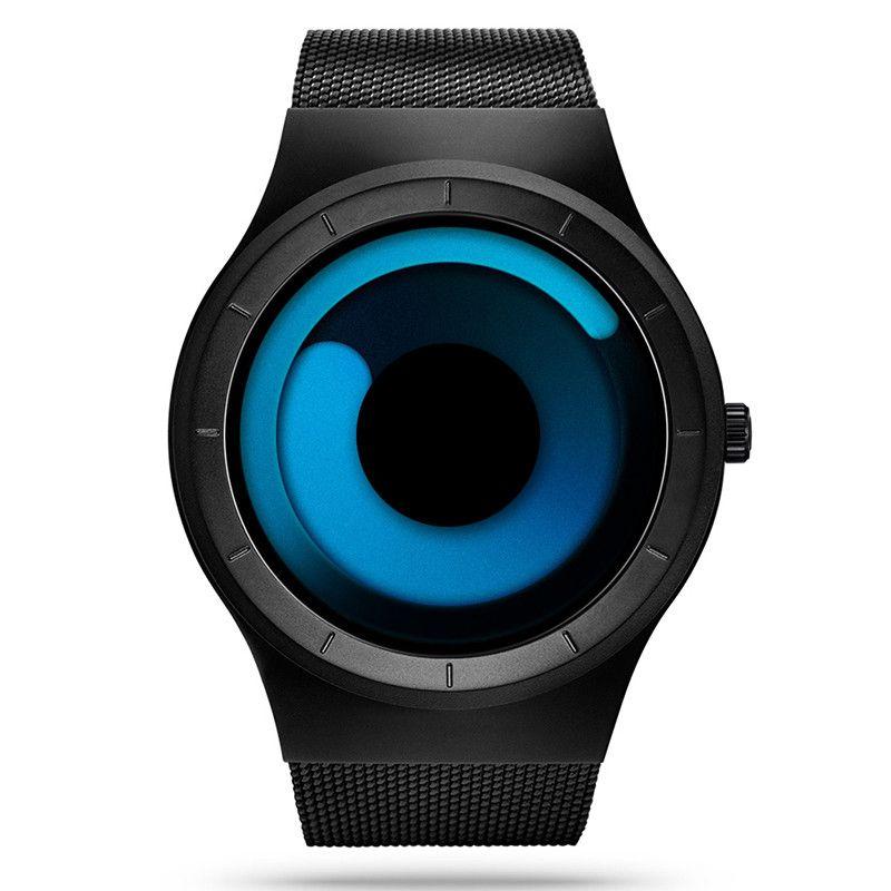Los hombres Relojes de Primeras Marcas de Lujo Reloj de Acero Inoxidable de Malla Estilo Aurora Bacelet Relojes Relogio masculino Hombres Reloj de Cuarzo de Moda