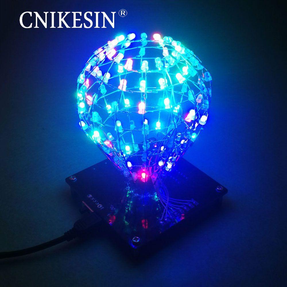 CNIKESIN DIY production LED light cubic ball creative electronic welding training DIY cube kit microcontroller