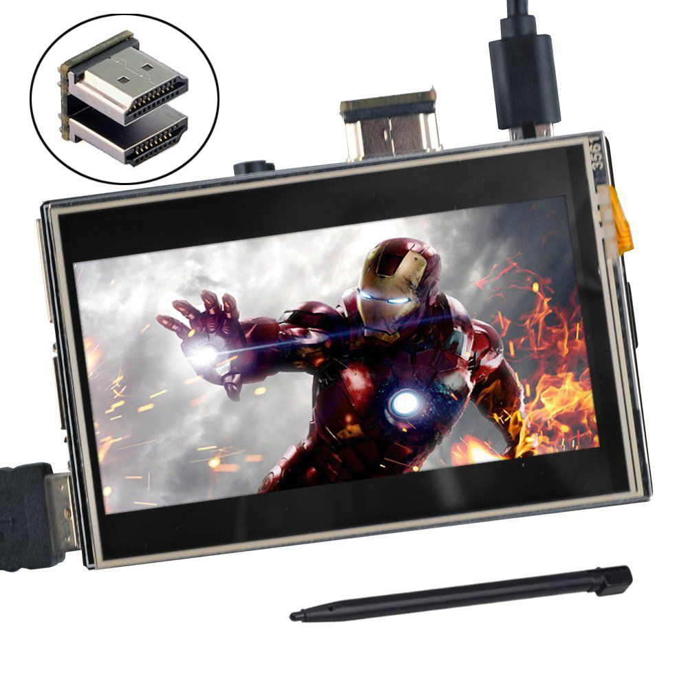 3.5 inch <font><b>HDMI</b></font> LCD TFT Touchscreen Display for Raspberry pi 2 and Pi 3 Model B