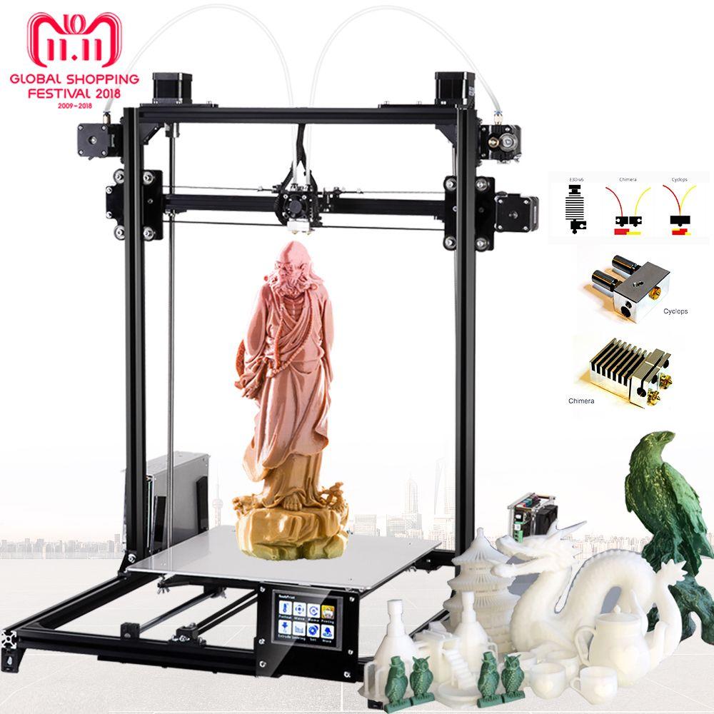 Flsun Large size 3d Printer 300x300x420mm Auto Level Touch Screen Daul Extruder DIY 3D Printer Kit Heated Bed