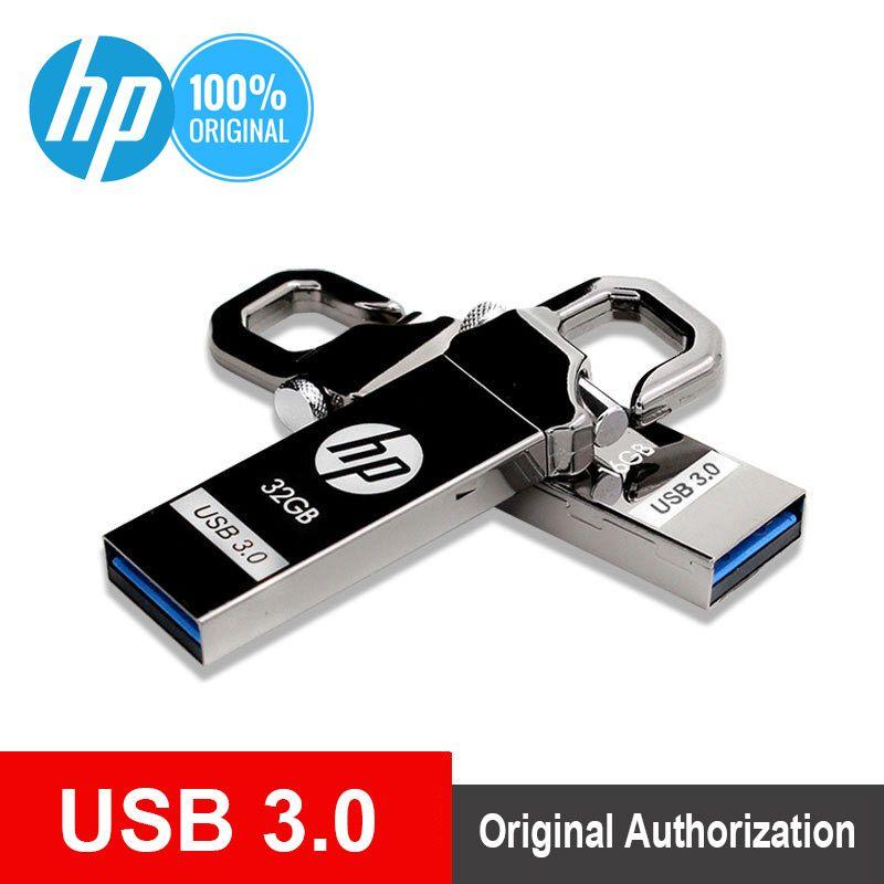 Clé USB HP 64 go clé USB en métal 32 go Plus lecteur de stylo OTG DJ logo bricolage 16 go clé USB 3.0 clé mémoire Flash 128 go livraison directe