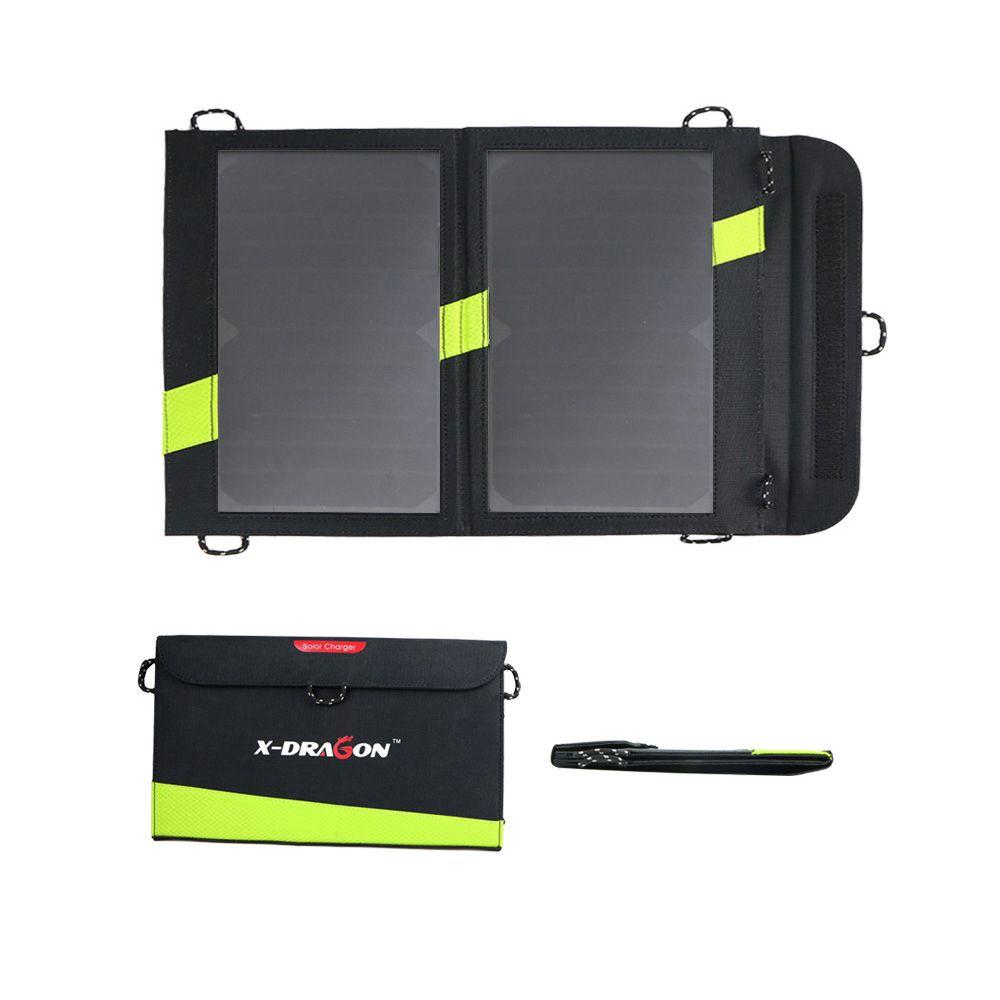 Chargeur solaire 14 W 5 V 3A double USB panneau solaire pliable batterie externe étanche pour Smartphone
