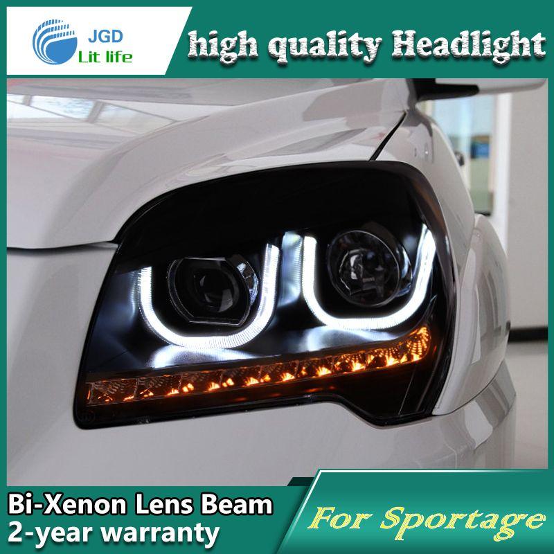 Hochwertige Car-Styling fall für KIA Sportage 2009-11 Scheinwerfer Led-scheinwerfer DRL Objektiv Double Beam HID Xenon auto Zubehör