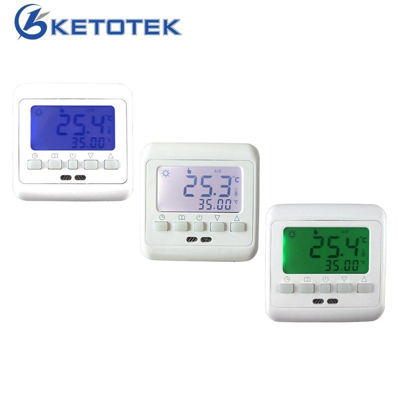Mechanical Digital Floor Heating Thermostat Underfloor Warm Temperature Controller Weekly Programmable with LCD Backlight