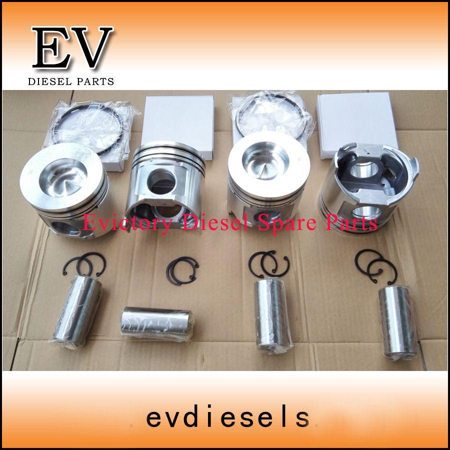 For Yanmar 4tne106t 4tnv106t 4D106 4TNE106 4TNV106 piston piston irng cylinder liner full gasket kit