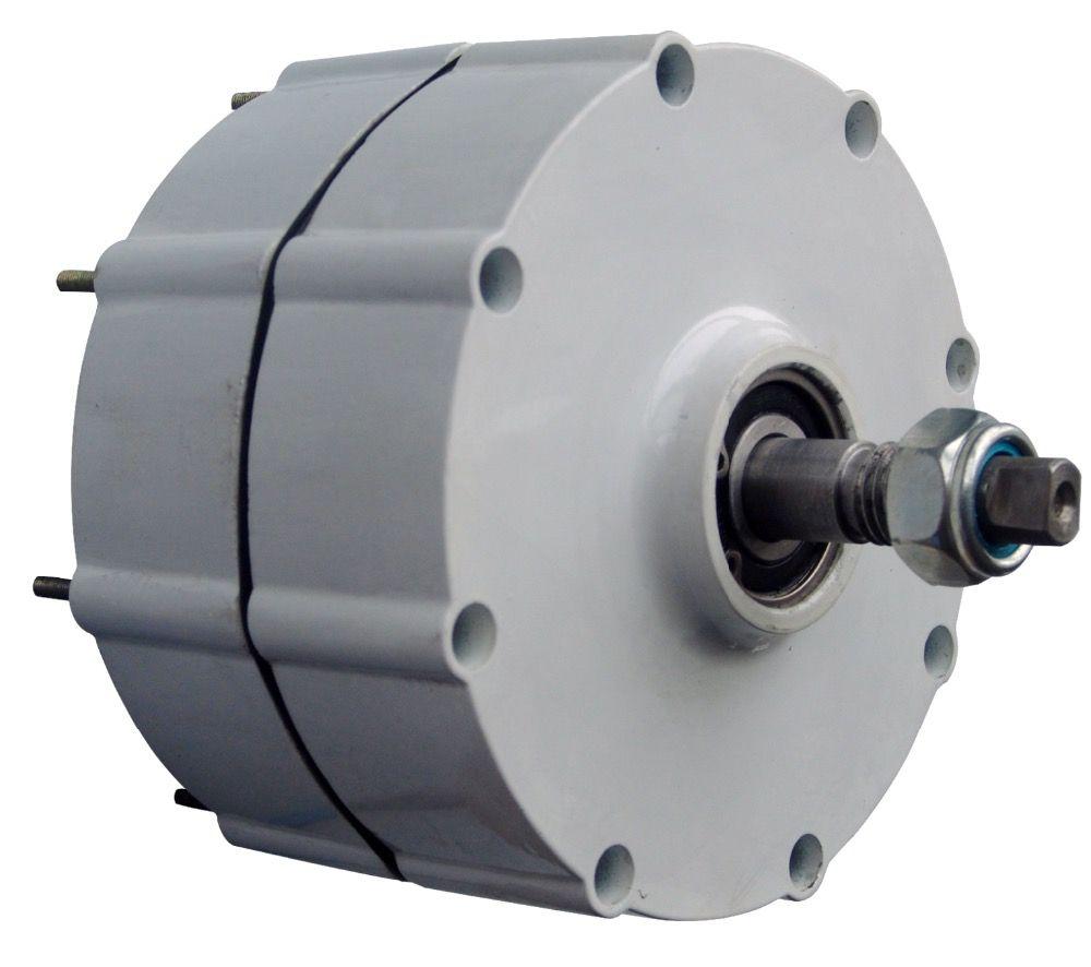 600W 48V Wind Turbine Generator Low Speed Start NdFeB permanent magnet generator/Aluminum shell for DIY