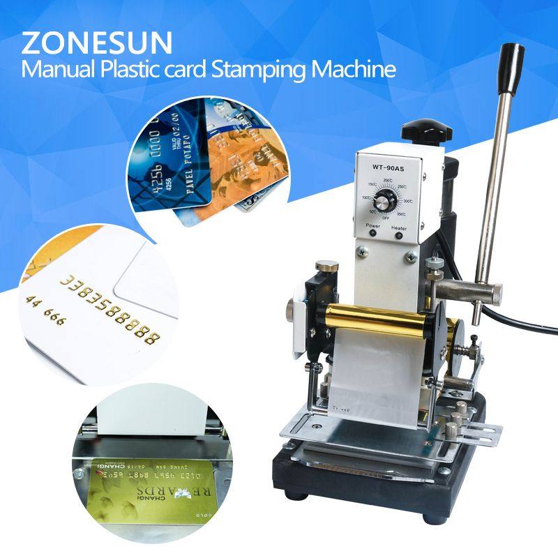 Best Quality 220V/110V Manual Hot Foil Stamping Machine Card Tipper Embossing Machine For ID PVC Colourful VIP Plastic Cards