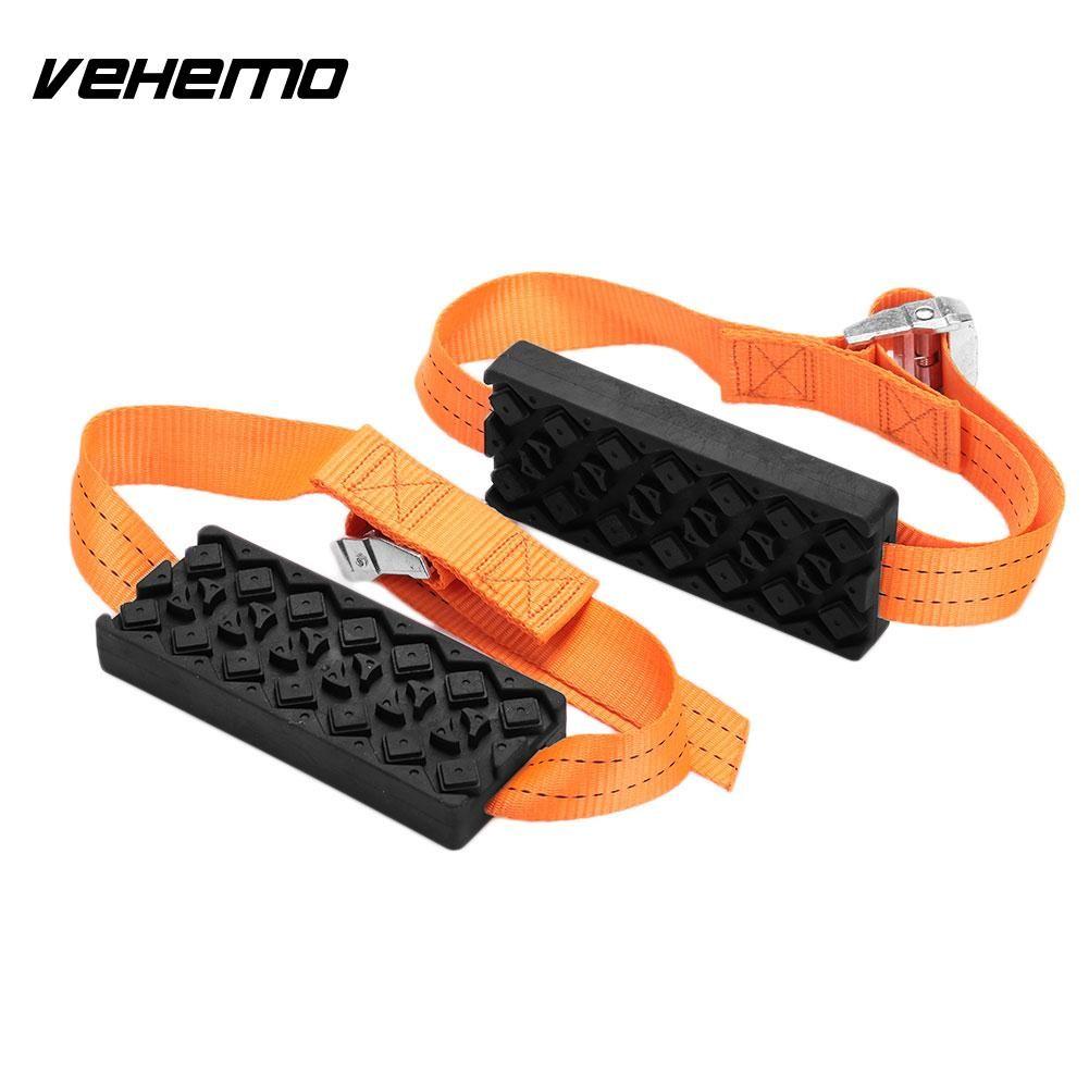 Vehemo Rubber Nylon Belt Snow Chain Automobile Mud Chain Outdoor Strap Hard Wearing Accessories
