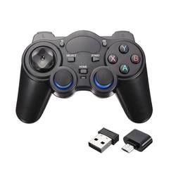 Беспроводной геймпад для ПК для PS3 телефона Android ТВ коробка джойстик 2,4G джойстика пульт дистанционного управления для Micro USB для Xiaomi/Тип C OTG С...