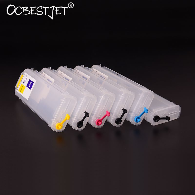For HP 72 280ML Empty Refillable Ink Cartridge With Reset Chip For HP T610 T620 T770 T790 T795 T1100 T1120 T1200 T1300 T2300
