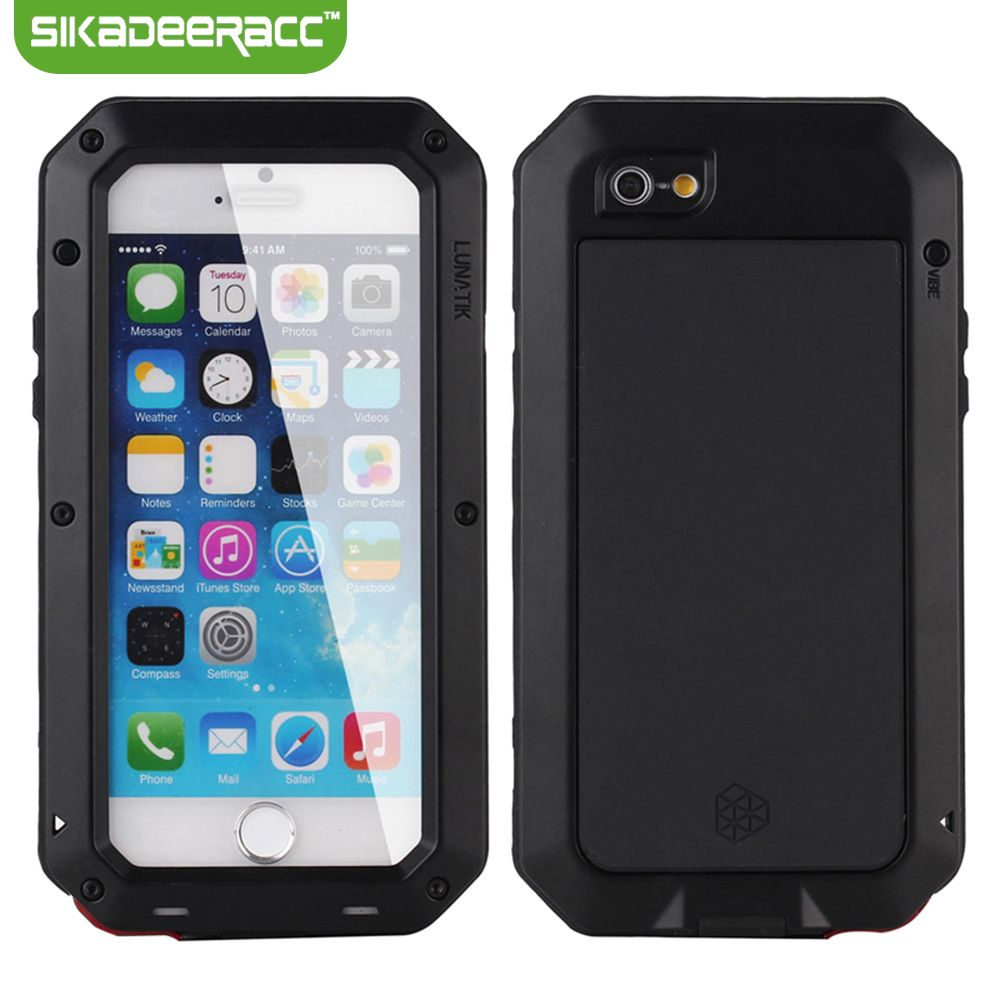 All Round Waterproof Shockproof Fitted Phone Covers For iPhone 6s Plus 4.7 5.5 Back Cases Shell Housing Protector DC53