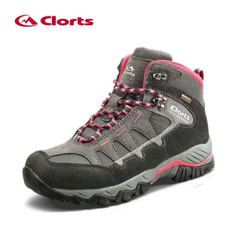 Clorts Women Hiking Boots Waterproof Trekking Shoes Suede Outdoor Shoes Woman Mountain Shoes HKM-823B/E/F