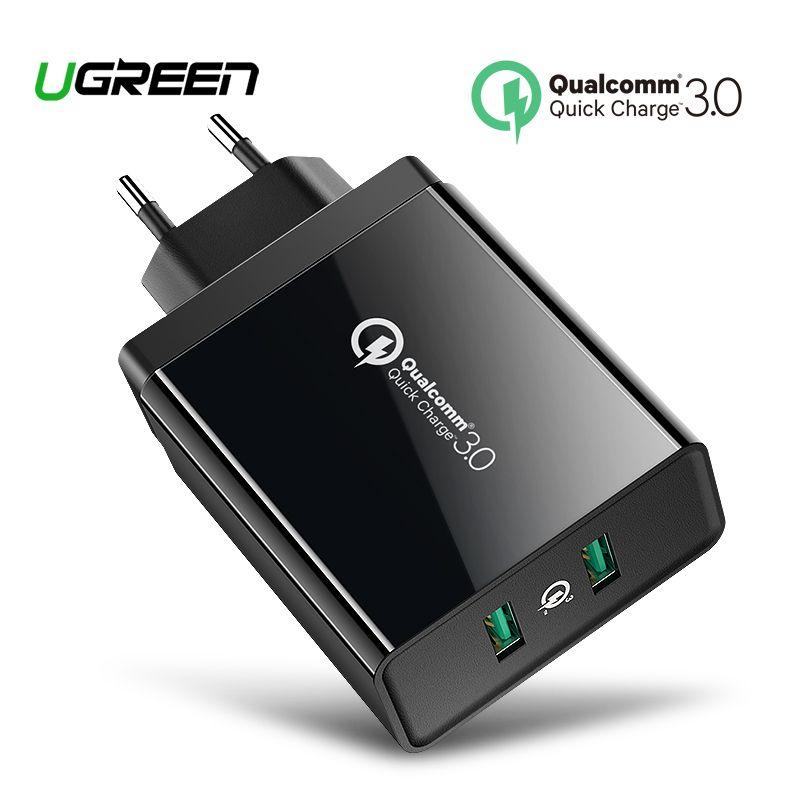 Ugreen Charge Rapide 3.0 36 W USB Chargeur pour iPhone X 8 Plus Rapide QC 3.0 Chargeur pour Samsung Galaxy s9 Xiao mi mi 8 USB Chargeur