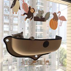 Vente chaude Chat Hamac Lit Montage Fenêtre Pod Transat Ventouses chaud Lit Pour Animaux de Compagnie Chat Reste Maison Doux Et Confortable Furet Cage