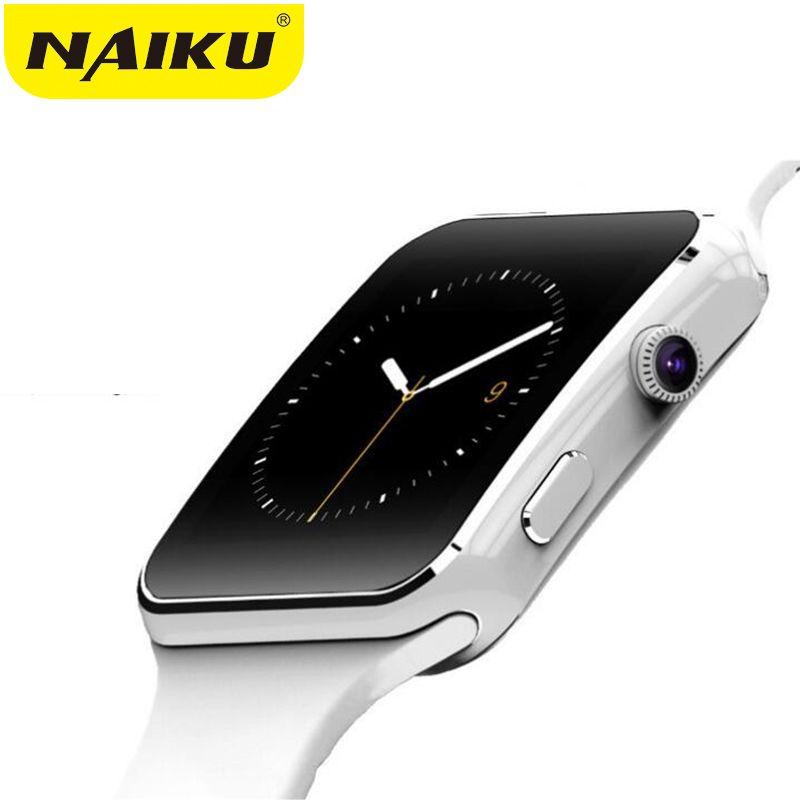 Bluetooth montre intelligente Sport passomètre Smartwatch X6 avec Support de caméra carte SIM Whatsapp Facebook pour téléphone Android