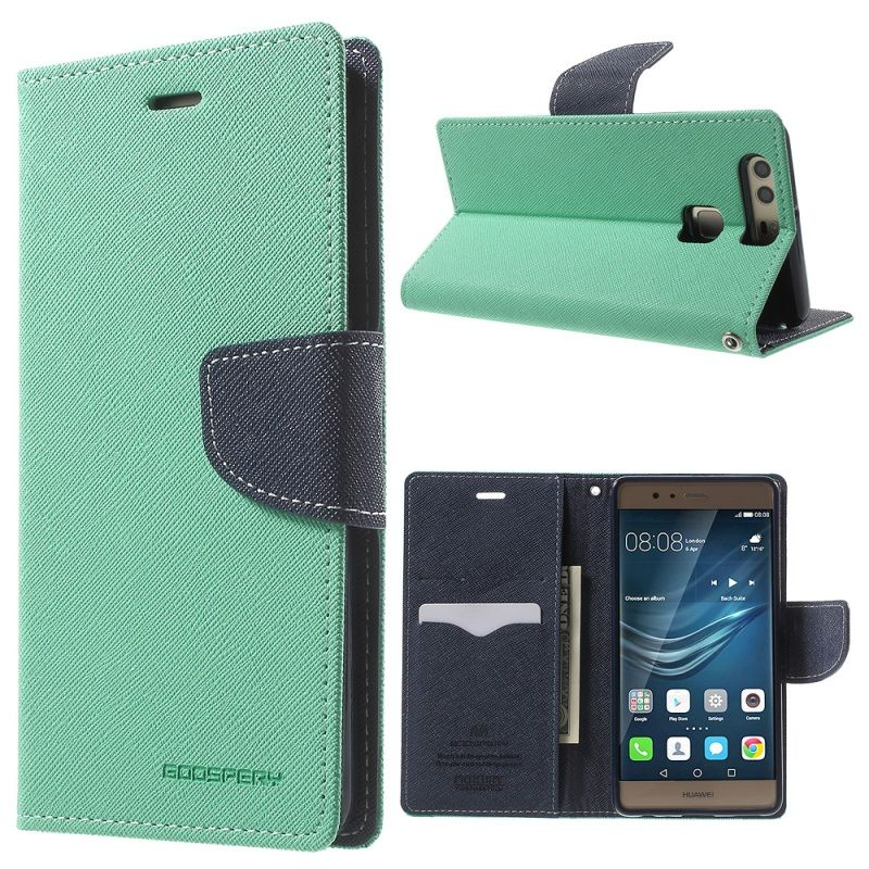 For Huawei P20 Lite case Original Goospery Flip PU Leather Wallet Holster Case For Huawei P9 P10 Plus P20 Pro Phone Bags Cases